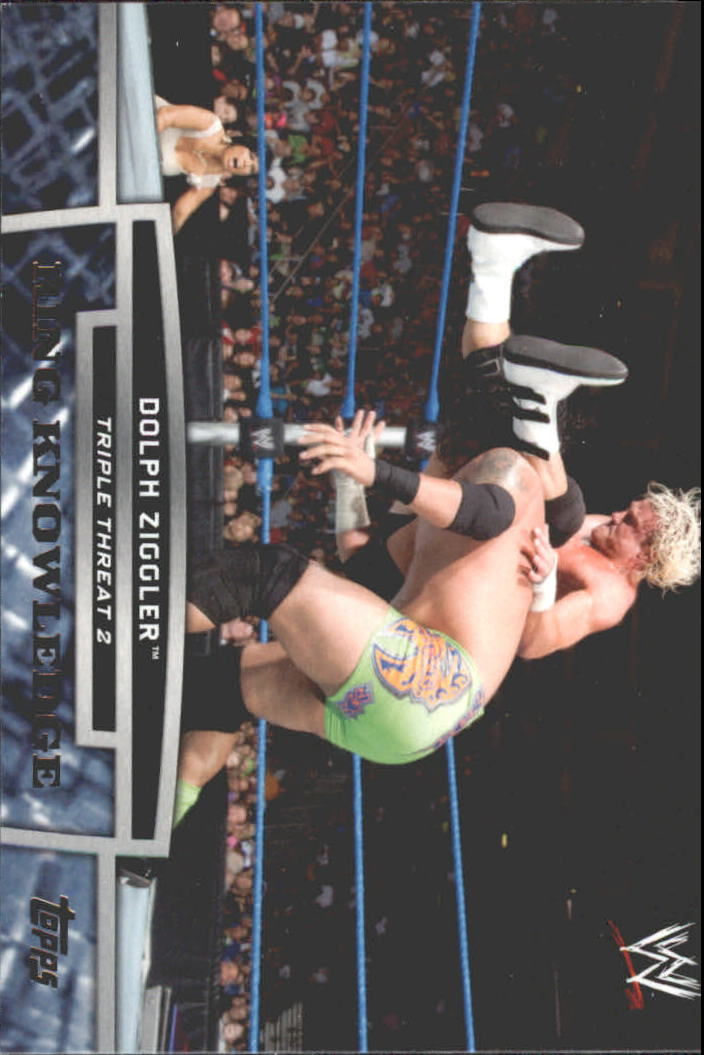 2013 Topps WWE Triple Threat Tier Two #TT1 Dolph Ziggler