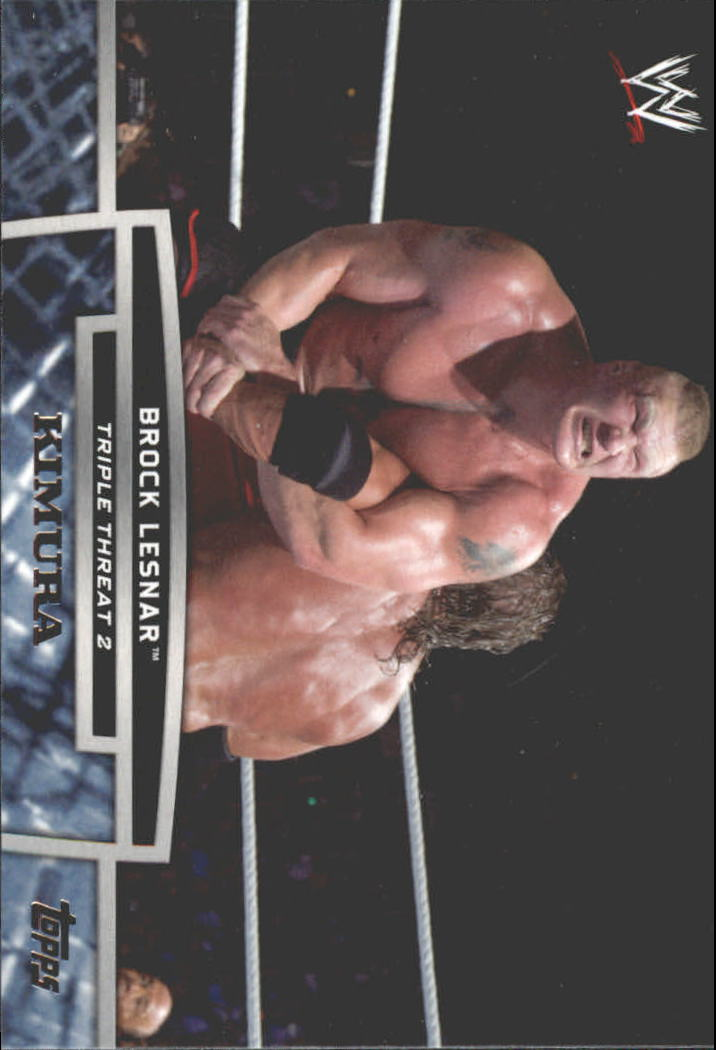 2013 Topps WWE Triple Threat Tier Two #TT8 Brock Lesnar