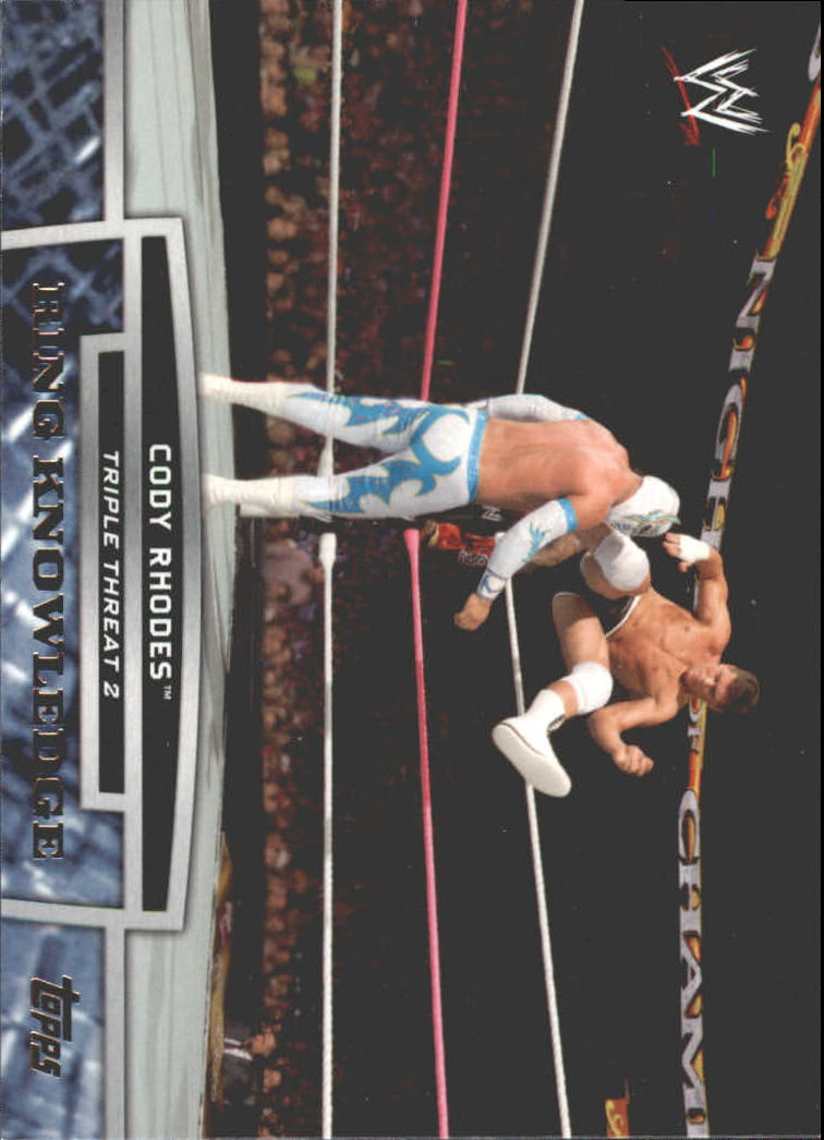 2013 Topps WWE Triple Threat Tier Two #TT13 Cody Rhodes