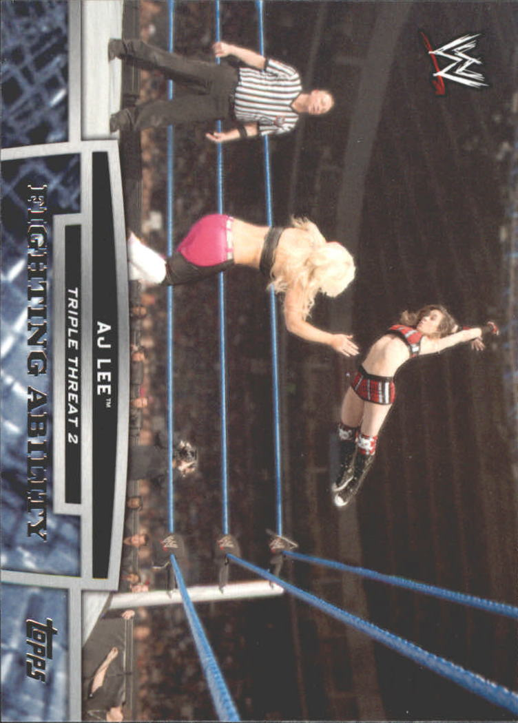 2013 Topps WWE Triple Threat Tier Two #TT17 AJ Lee
