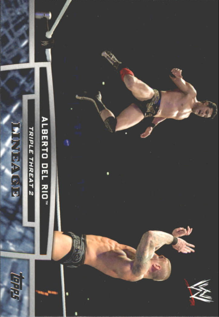 2013 Topps WWE Triple Threat Tier Two #TT23 Alberto Del Rio