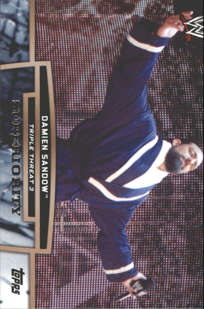 2013 Topps WWE Triple Threat Tier Three #TT11 Damien Sandow