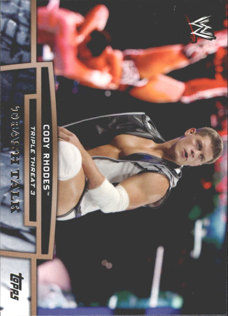 2013 Topps WWE Triple Threat Tier Three #TT13 Cody Rhodes