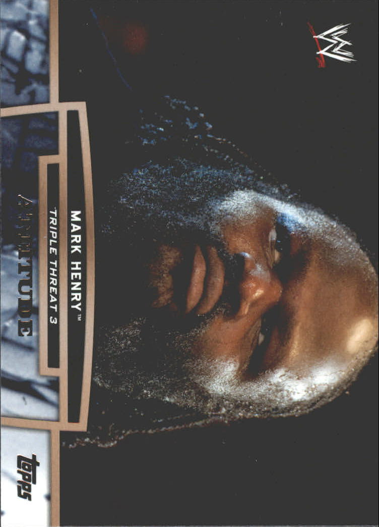 2013 Topps WWE Triple Threat Tier Three #TT18 Mark Henry