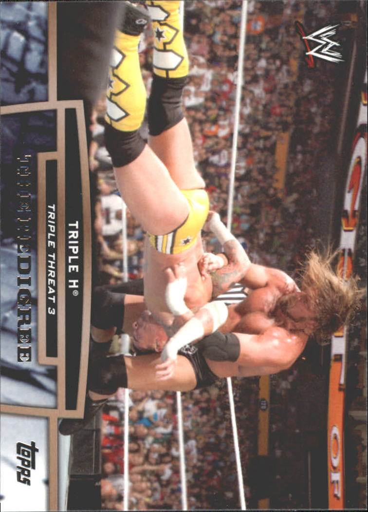 2013 Topps WWE Triple Threat Tier Three #TT19 Triple H