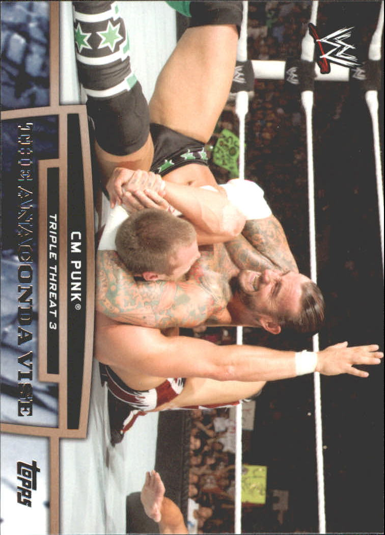 2013 Topps WWE Triple Threat Tier Three #TT26 CM Punk