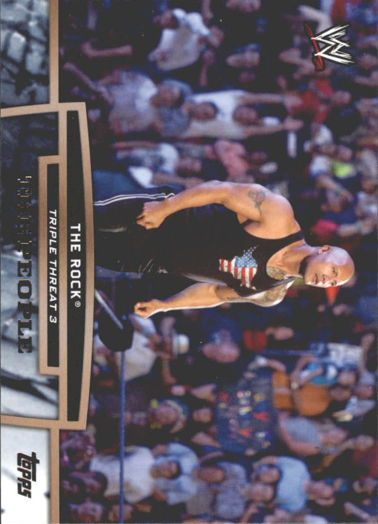 2013 Topps WWE Triple Threat Tier Three #TT27 The Rock