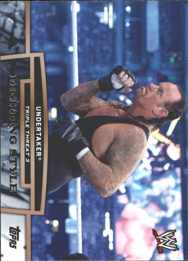 2013 Topps WWE Triple Threat Tier Three #TT28 Undertaker