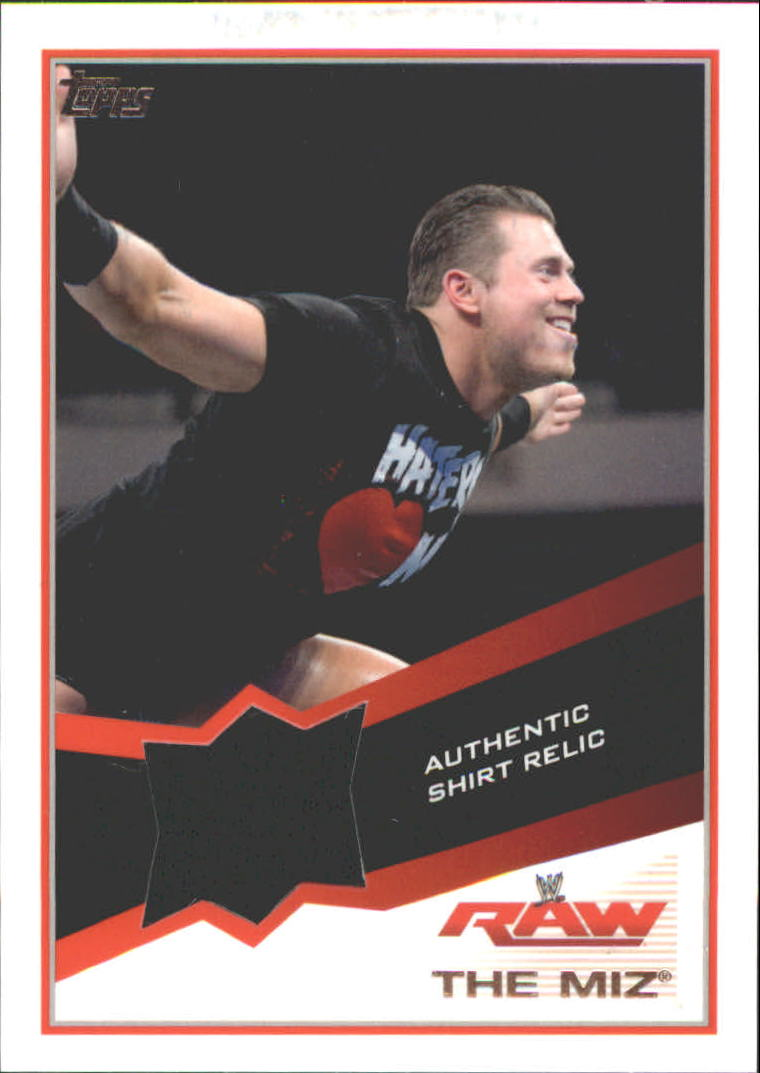 2013 Topps WWE Shirt Relics #16 The Miz shirt