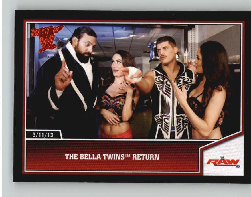 2013 Topps Best of WWE #99 The Bella Twins Return