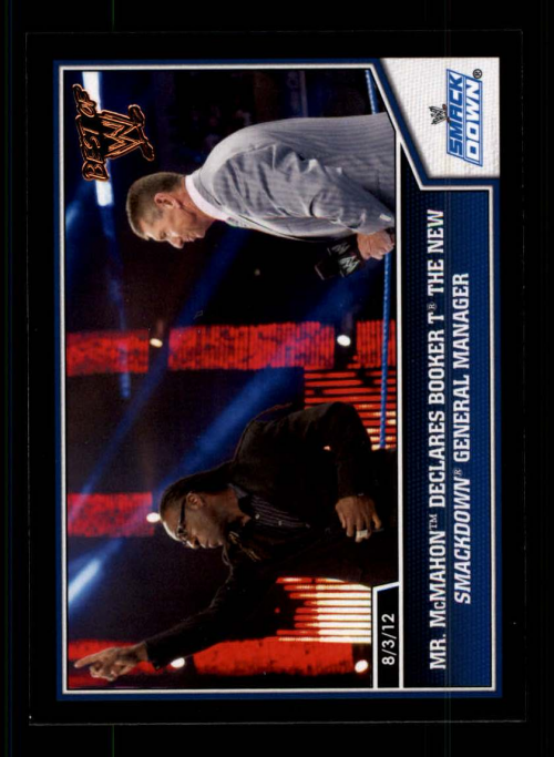 2013 Topps Best of WWE Bronze #37 Mr. McMahon Declares Booker T the new SmackDown General Manager