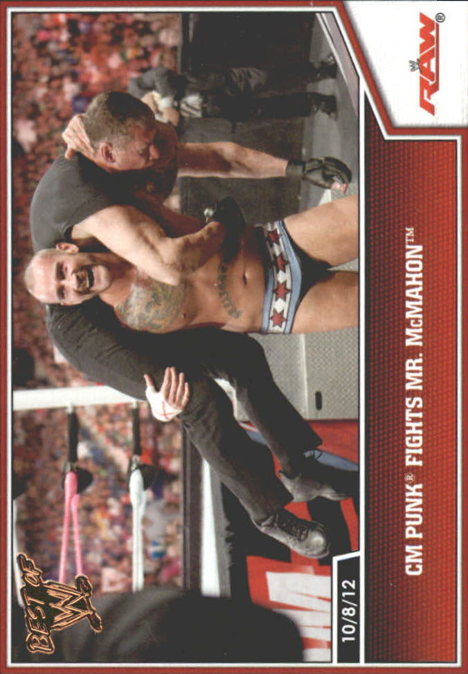 2013 Topps Best of WWE Bronze #52 CM Punk Fights Mr. McMahon