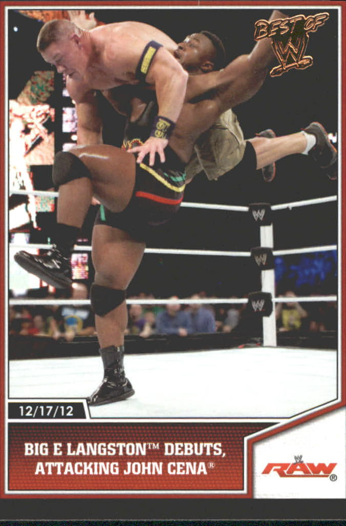 2013 Topps Best of WWE Bronze #70 Big E Langston Debuts, Attacking John Cena