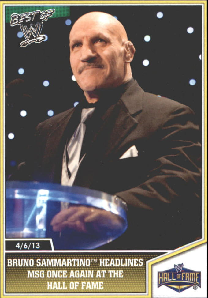 2013 Topps Best of WWE Silver #105 Bruno Sammartino Headlines MSG Once Again at the Hall of Fame