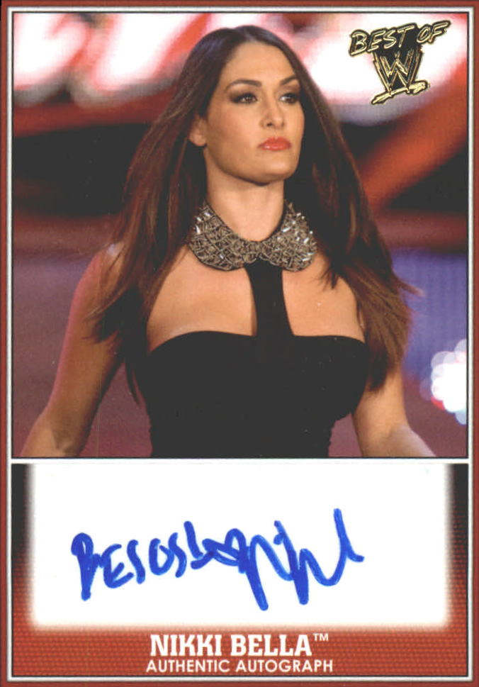 2013 Topps Best of WWE Autographs #13 Nikki Bella