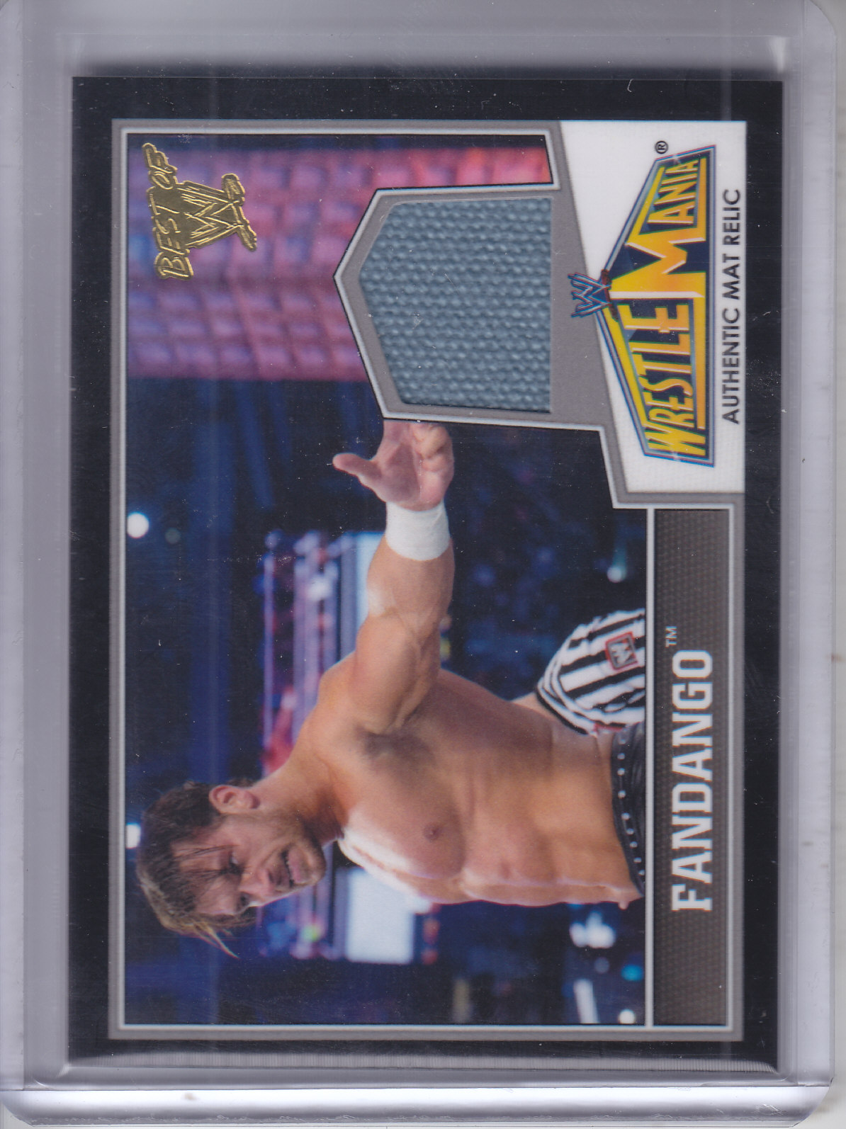 2013 Topps Best of WWE Wrestlemania 29 Mat Relics #9 Fandango