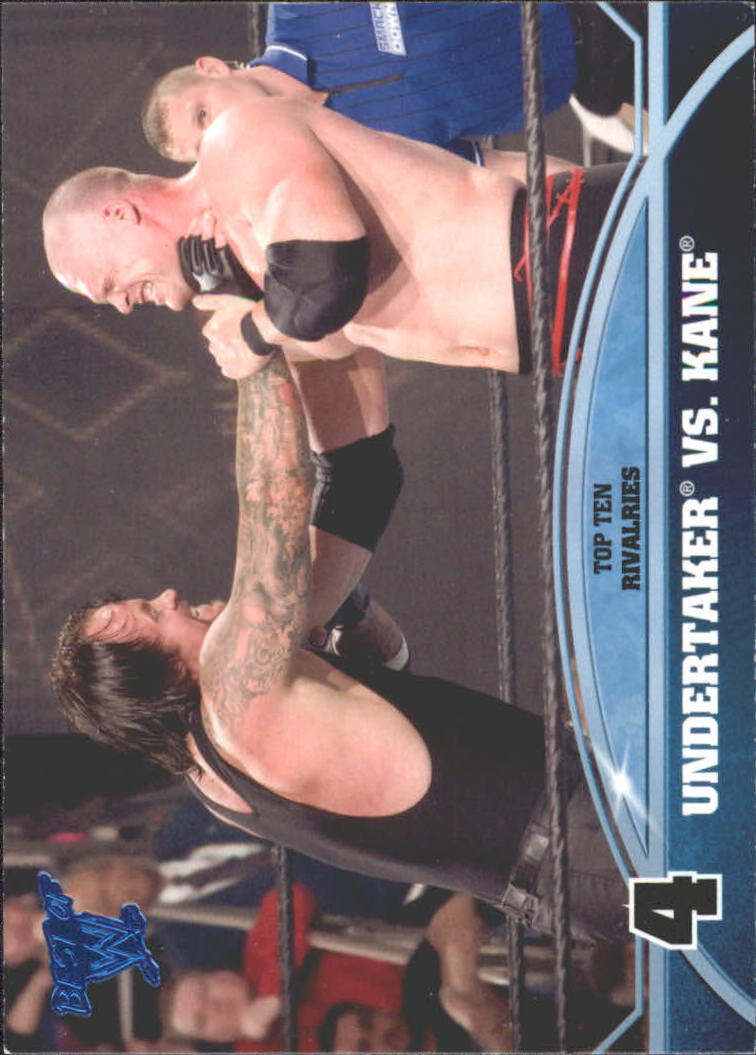 2013 Topps Best of WWE Top 10 Rivalries #4 Undertaker vs. Kane
