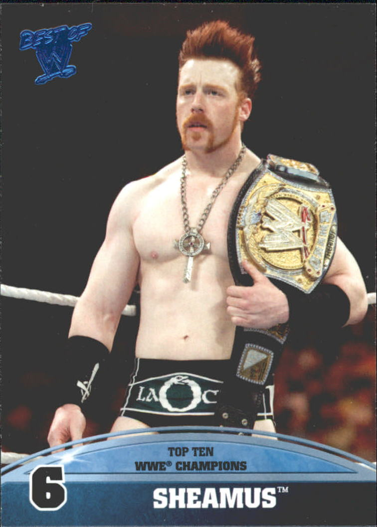 2013 Topps Best of WWE Top 10 WWE Champions #6 Sheamus