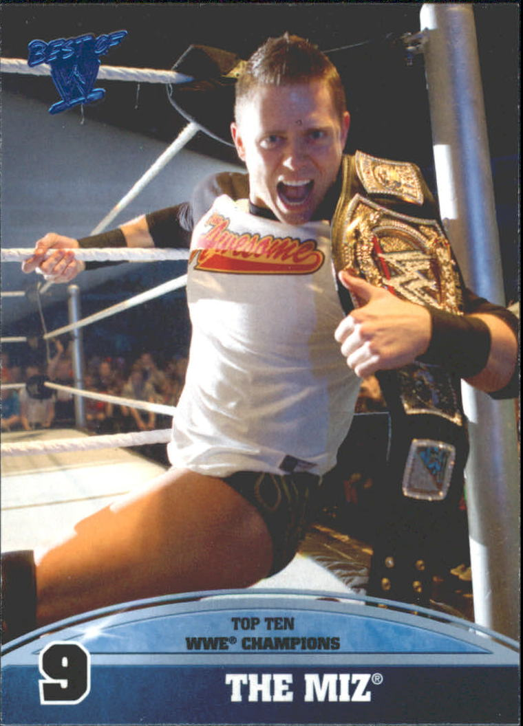 2013 Topps Best of WWE Top 10 WWE Champions #9 The Miz