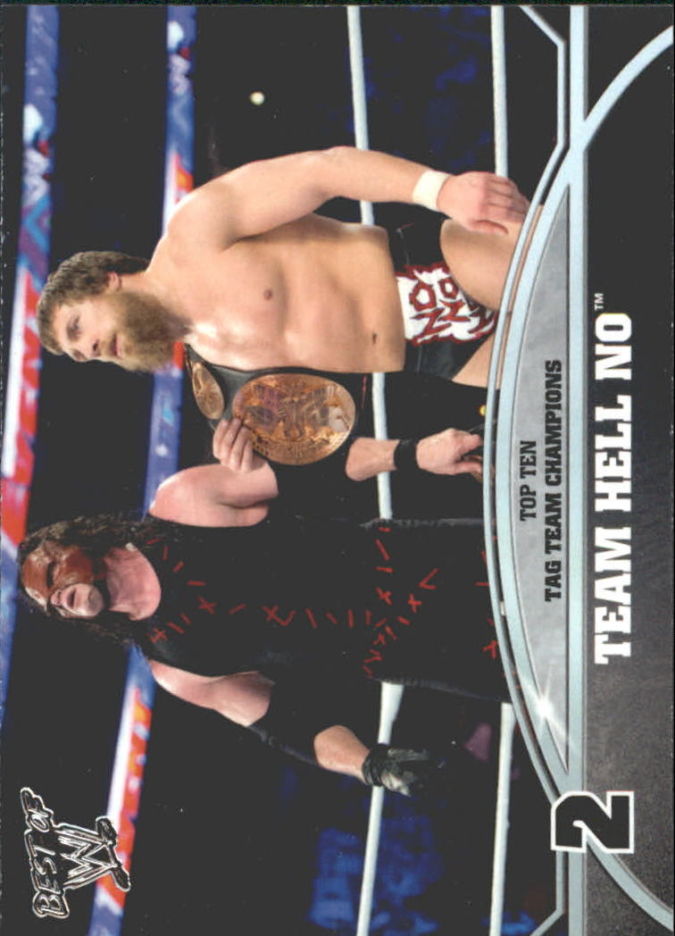 2013 Topps Best of WWE Top 10 WWE Tag Team Champions #2 Team Hell No