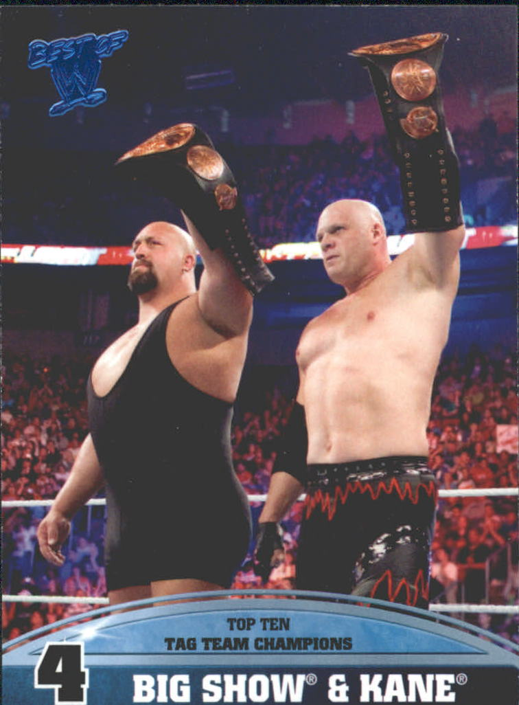 2013 Topps Best of WWE Top 10 WWE Tag Team Champions #4 Big Show/Kane