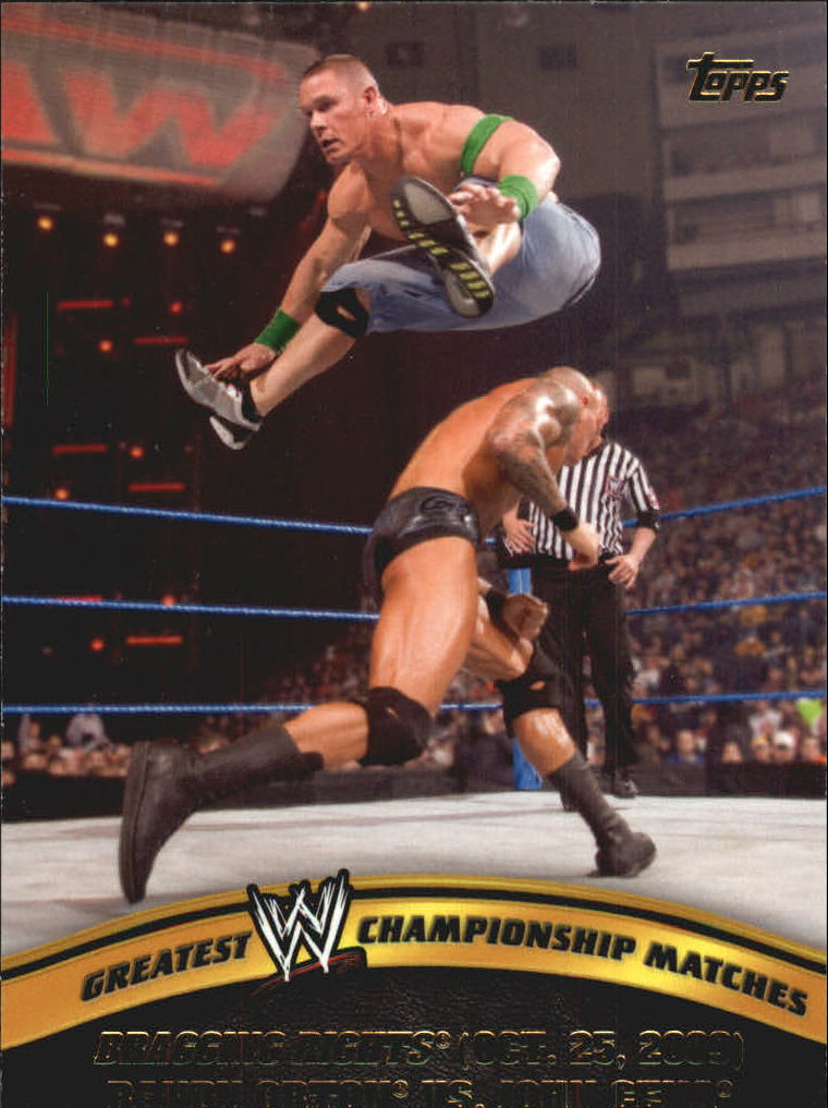 2014 Topps WWE Greatest Championship Matches #12 Randy Orton vs. John Cena/Bragging Rights