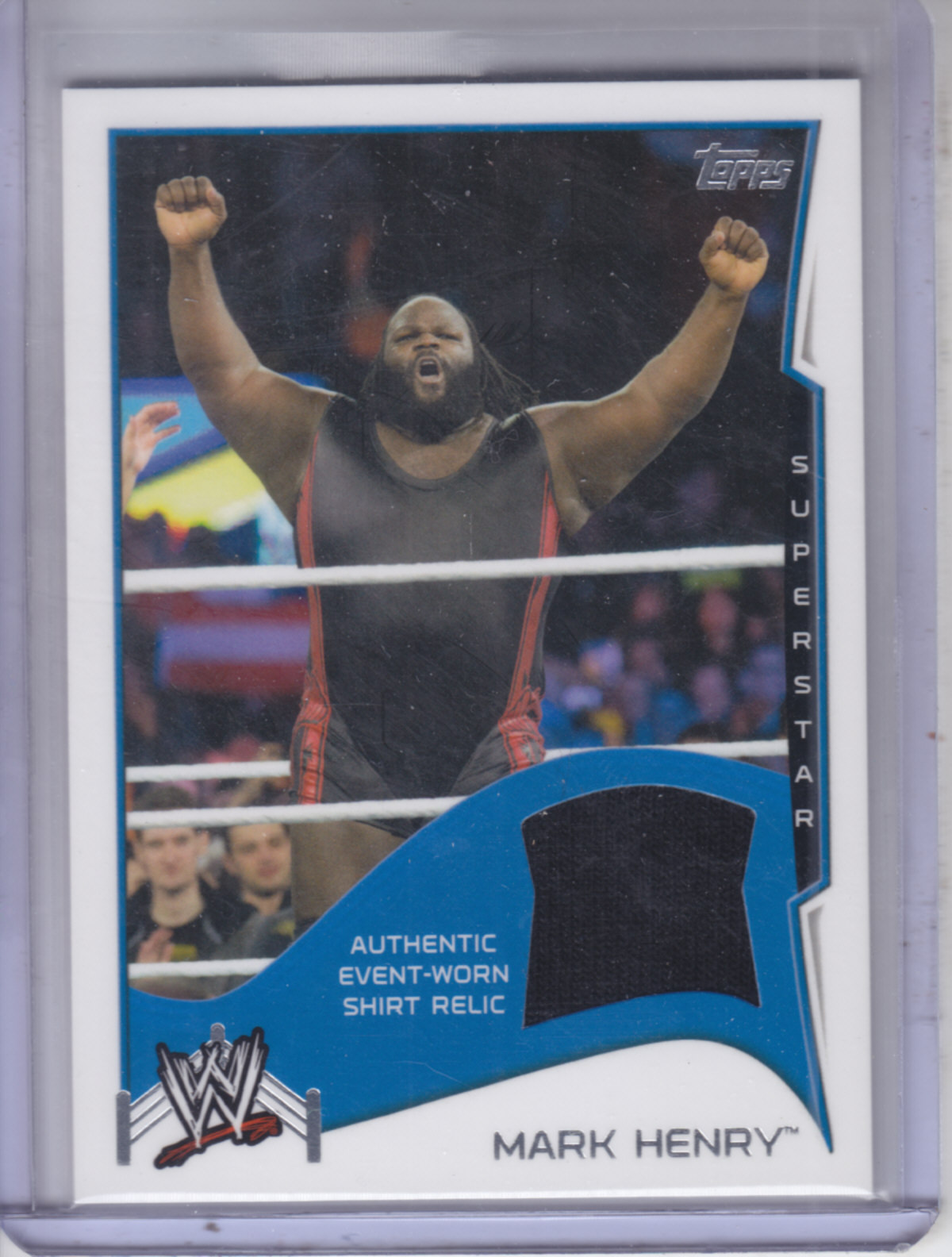2014 Topps WWE Swatch Relics #11 Mark Henry shirt