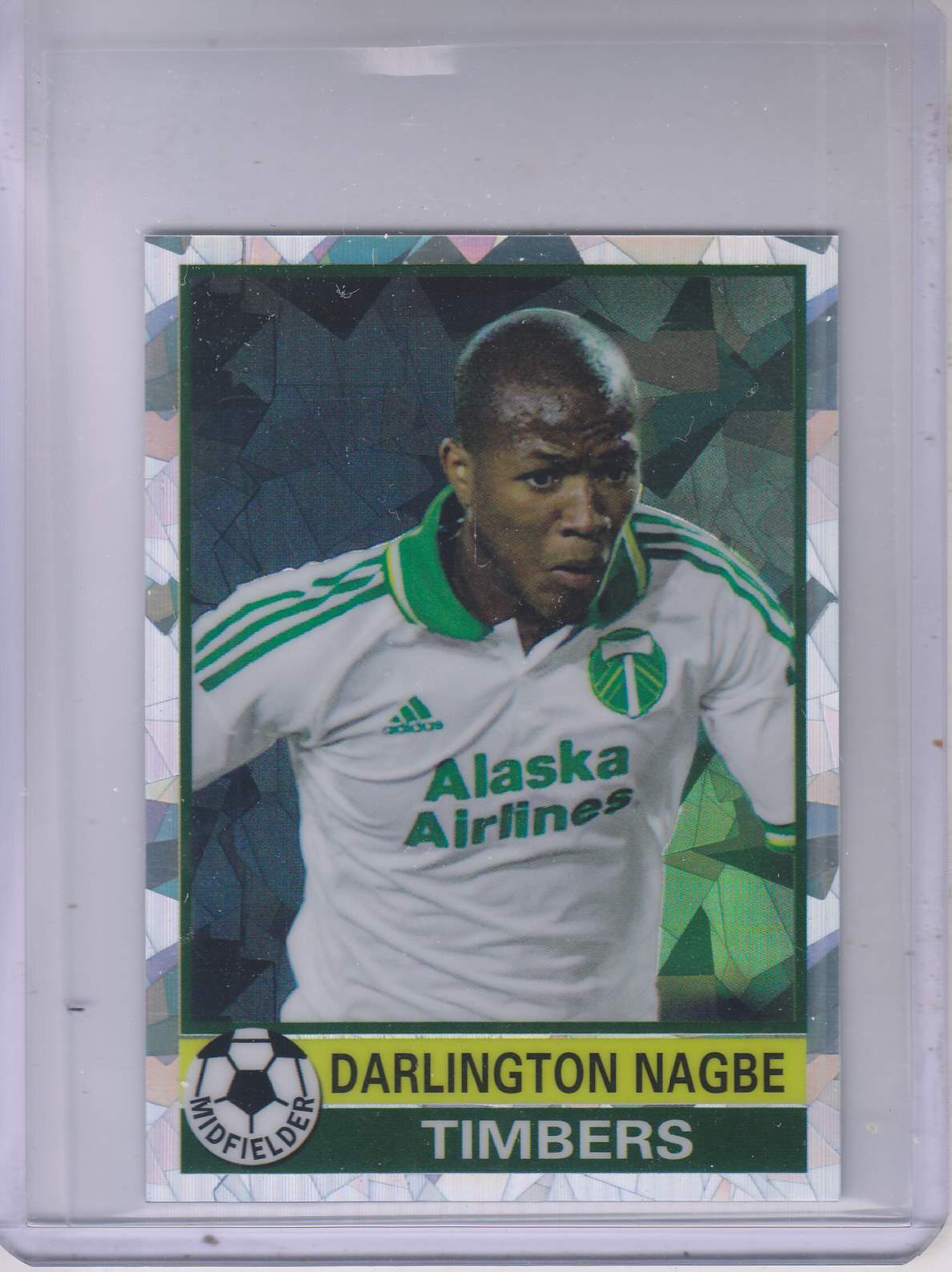 2014 Topps Chrome MLS '76-77 Footballer Mini Atomic Refractors #7677DN Darlington Nagbe