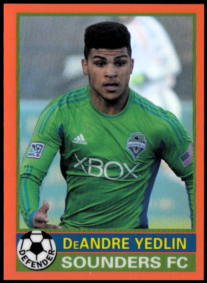 2014 Topps Chrome MLS '76-77 Footballer Mini Orange Refractors #7677DY DeAndre Yedlin