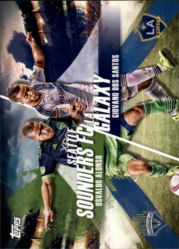 2016 Topps MLS Rooted Rivals #RRSSLA Giovani Dos Santos/Osvaldo Alonso