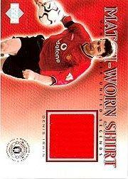 2002 Upper Deck Manchester United Legends Match Worn Shirts #DIS Denis Irwin