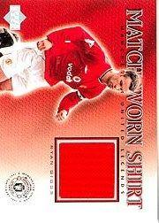 2002 Upper Deck Manchester United Legends Match Worn Shirts #RGS Ryan Giggs