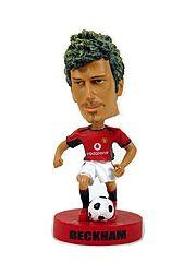 2003 Upper Deck Manchester United Mini Playmakers Bobble Head Dolls #1 David Beckham