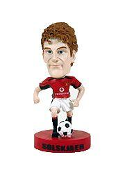 2003 Upper Deck Manchester United Mini Playmakers Bobble Head Dolls #6 Ole Gunnar Solskjaer