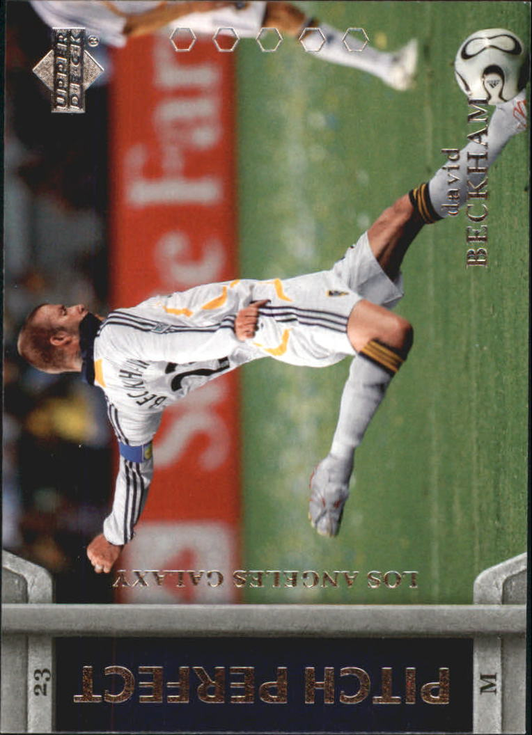 2007 Upper Deck MLS Pitch Perfect #PP9 David Beckham
