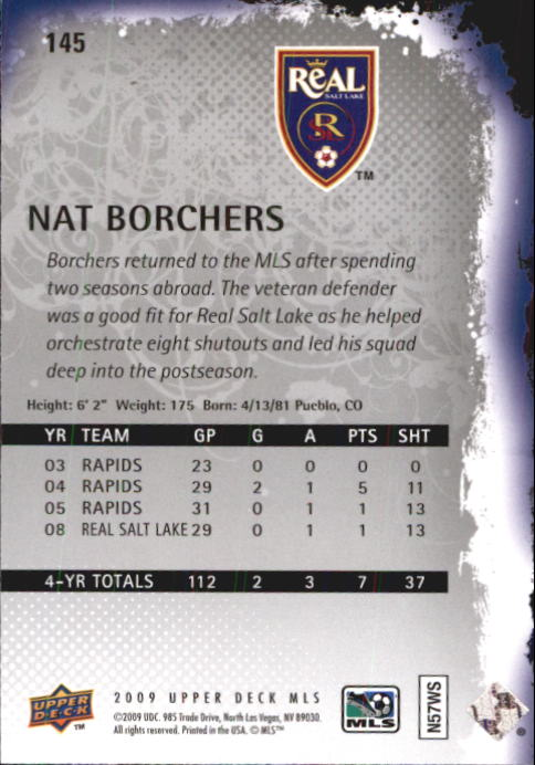2009 Upper Deck MLS #145 Nat Borchers