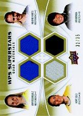 2010 Upper Deck MLS WPS Superstars Quad Materials #RMSM Hope Solo/Heather Mitts/Aya Miyama/Amy Rodriguez