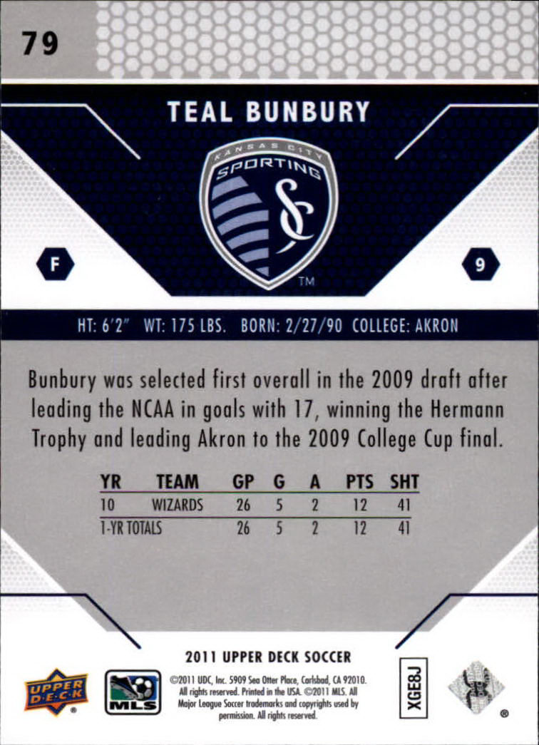 2011 Upper Deck MLS #79 Teal Bunbury
