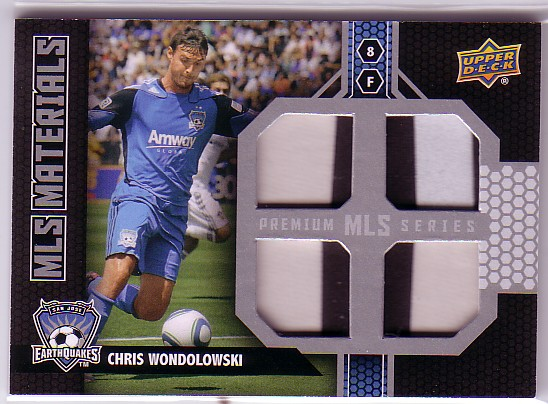 2011 Upper Deck MLS Materials Quad Premium Series #CW Chris Wondolowski
