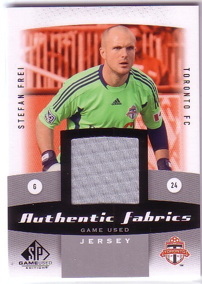 2011 SP Game Used Authentic Fabrics #SF Stefan Frei E