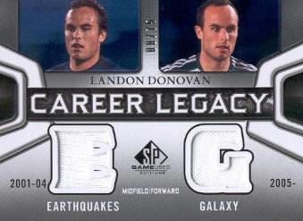 2011 SP Game Used Career Legacy Dual Jersey #LD Landon Donovan
