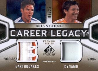 2011 SP Game Used Career Legacy Dual Jersey Premium Series #BC Brian Ching