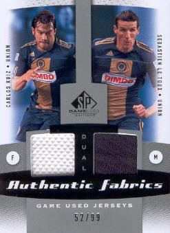 2011 SP Game Used Authentic Fabrics Dual #PHI David Beckham/Landon Donovan