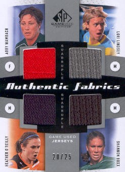 2011 SP Game Used Authentic Fabrics Quad #USWN Abby Wambach/Lori Lindsey/Heather O'Reilly/Shannon Boxx