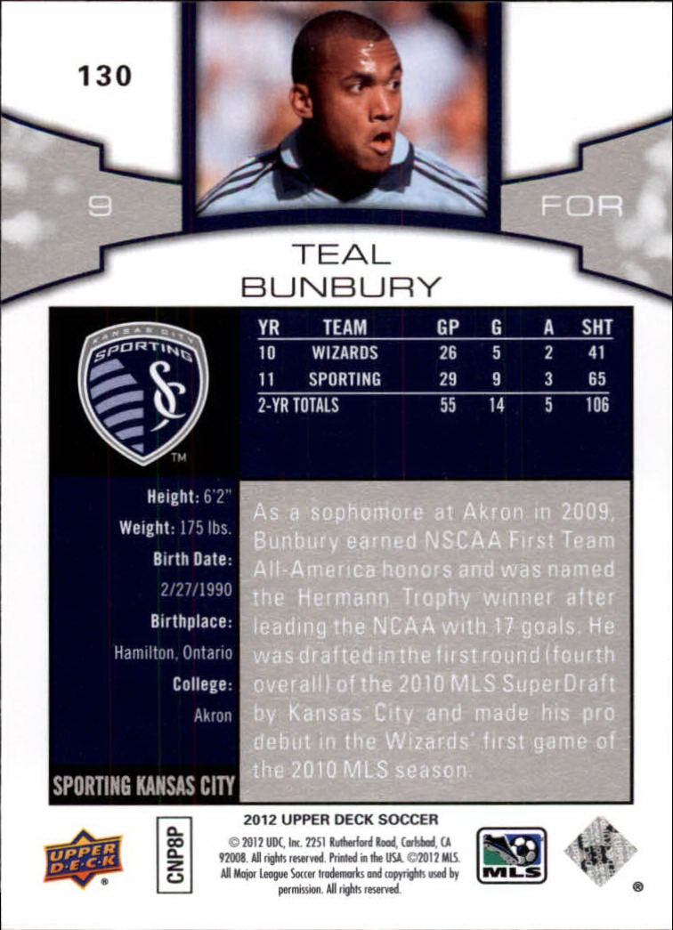 2012 Upper Deck MLS #130 Teal Bunbury