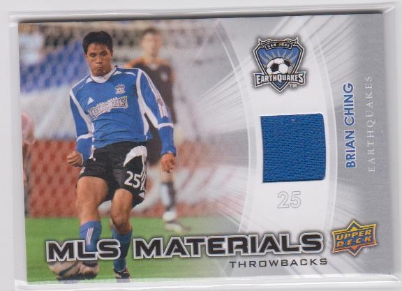 2012 Upper Deck MLS Throwback Materials #BC Brian Ching B