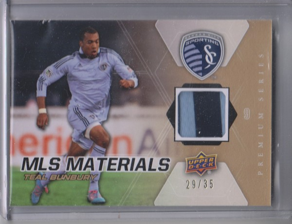 2012 Upper Deck MLS Materials Premium Series 35 #TB Teal Bunbury