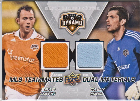 2012 Upper Deck MLS Dual Materials #HOU Brad Davis/Tally Hall B