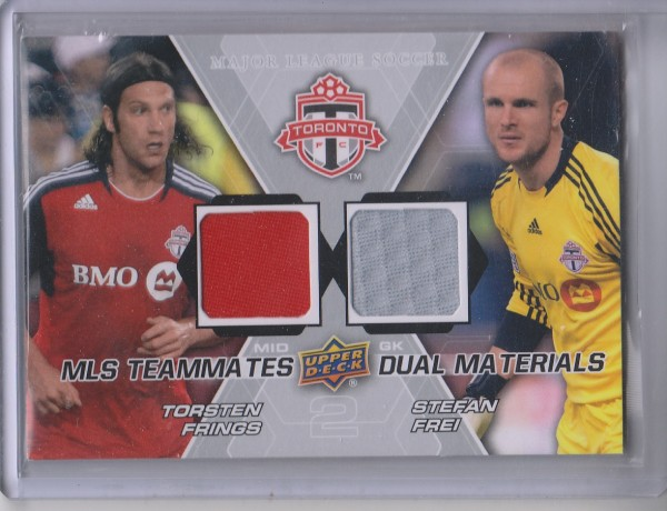 2012 Upper Deck MLS Dual Materials #TFC Torsten Frings/Stefan Frei B