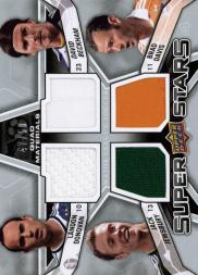 2012 Upper Deck MLS Superstars Quad Materials #MID Jack Jewsbury/Landon Donovan/David Beckham/Brad Davis